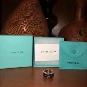 Tiffany & Co Titanium and Silver Ring Size 7